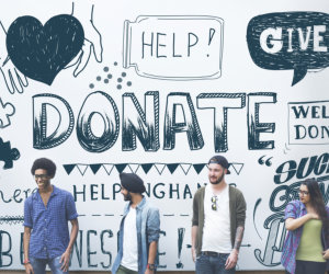 donate word in a graffiti